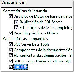 Opciones de SQL Express