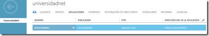 App Web en Directorio Azure